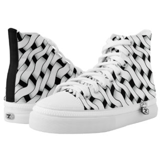 Chain Mail High-Top Sneakers