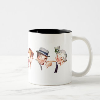 Chain of Gossip 3 Two-Tone Coffee Mug