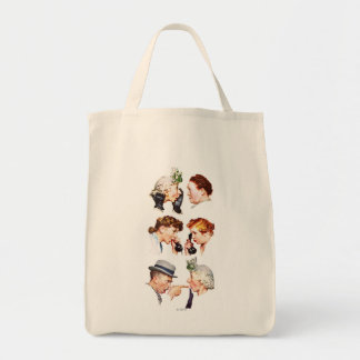 Chain of Gossip Grocery Tote Bag