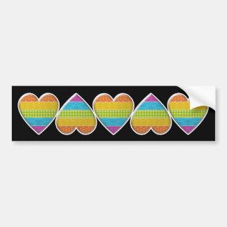 chain of hearts bumper sticker