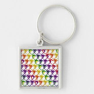 chain of hearts keychain