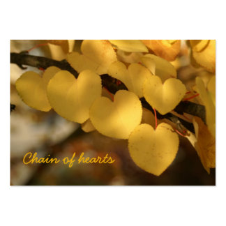 chain of hearts large business card