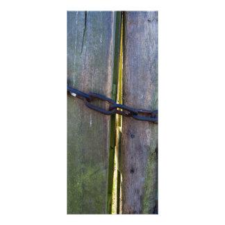 Chain on wood rack card template