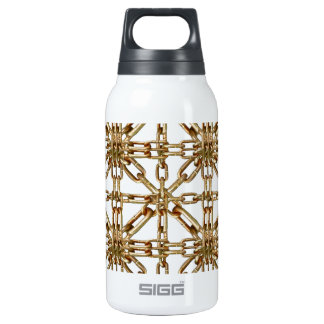 Chain Pattern Insulated Water Bottle