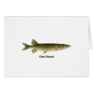 Chain Pickerel Illustration Greeting Card