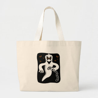 Chain Rattling Ghost Tote Bags