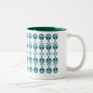 Chain Reactor Two-Tone Coffee Mug