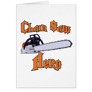 Chain Saw Hero Chainsaw Greeting Cards