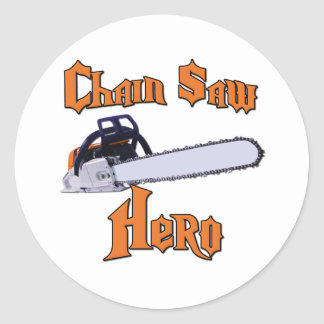 Chain Saw Hero Chainsaw Classic Round Sticker