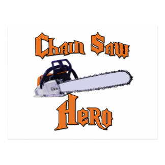 Chain Saw Hero Chainsaw Postcard