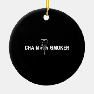 Chain Smoker Ceramic Ornament