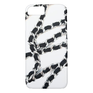 Chain strap of leather bag quilted cc caviar iPhone 8/7 case