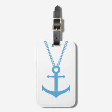 Chained anchor bag tag