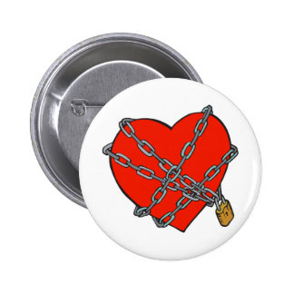 chained and locked heart buttons