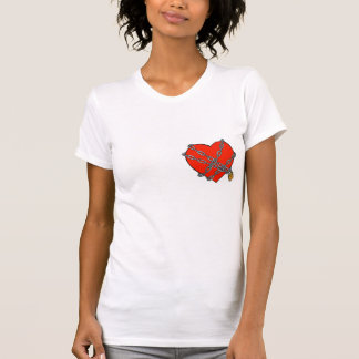 chained and locked heart tee shirts