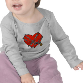 chained and locked heart tees