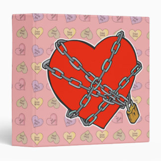 chained and locked heart vinyl binder