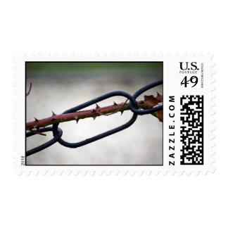 Chained-and-painfull1072 CHAINS ROSE THORNS SYMBOL Stamps
