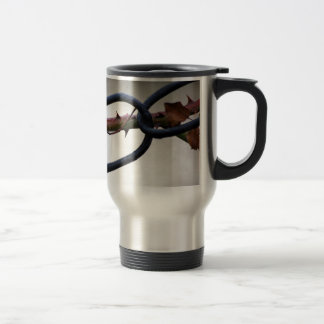 Chained-and-painfull1072 CHAINS ROSE THORNS SYMBOL Travel Mug
