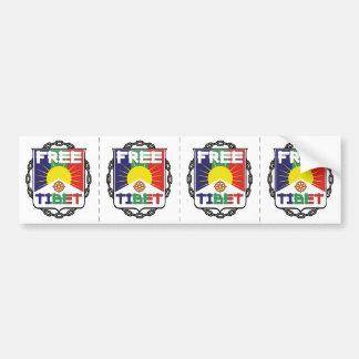 Chained Free Tibet Bumper Sticker