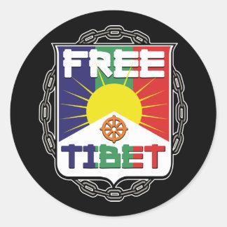 Chained Free Tibet Classic Round Sticker