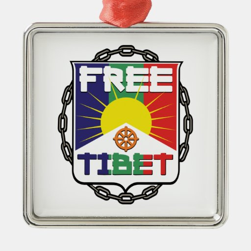 Chained Free Tibet Metal Ornament