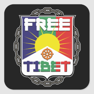 Chained Free Tibet Square Sticker