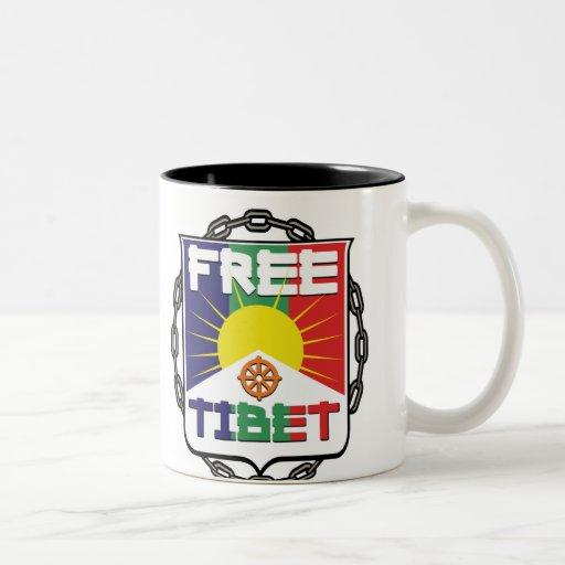 Chained Free Tibet Two-Tone Coffee Mug