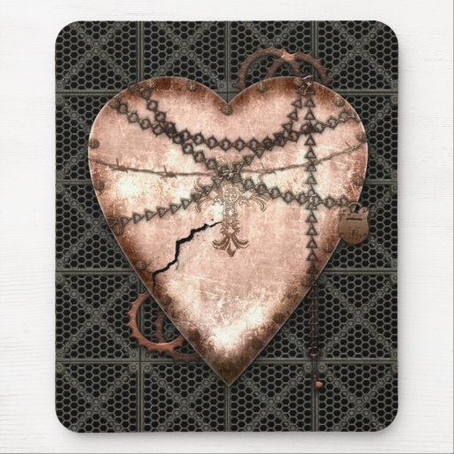 Chained Heart Mouse Pad