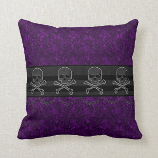 Chained Skull Damask Goth Pillow