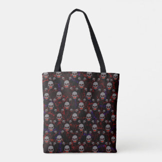 Chained Skulls Tote Bag