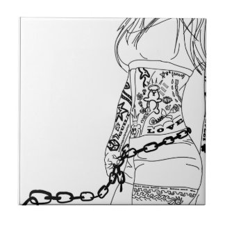 Chained to a bad girl tile