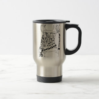 Chained to a bad girl travel mug