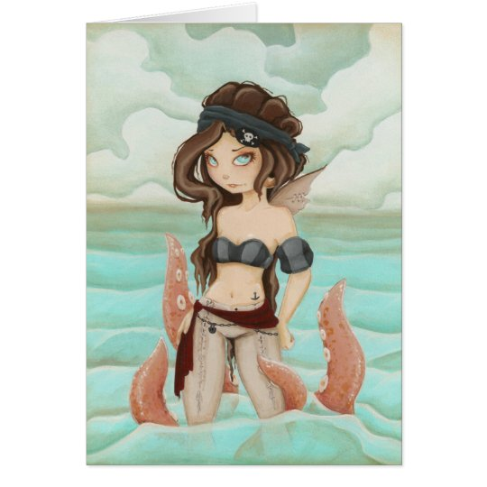 Chained to the Sea - Fairy pirate card