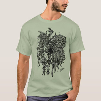 Chained Wings Grey T-Shirt
