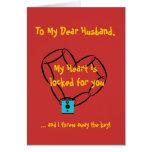 chainheart, To My Dear Husband,, My Heart is lo... Card