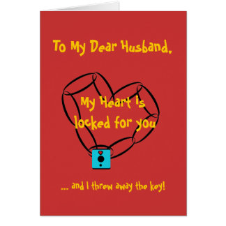 chainheart, To My Dear Husband,, My Heart is lo... Greeting Card