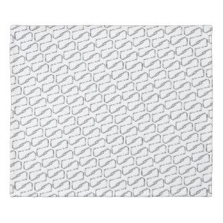 Chainlink Black & White Duvet Cover