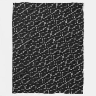 Chainlink Black & White Fleece Blanket