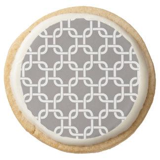 Chainlink Round Shortbread Cookie