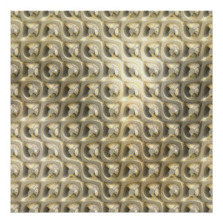 Chainmail - Gold Silver Print