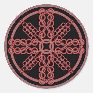 Chainmail Medallion Classic Round Sticker