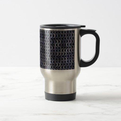 Chainmaille - acero tazas de café