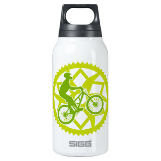Chainring biker insulated water bottle