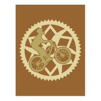Chainring biker postcard