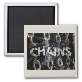 Chains 2 Inch Square Magnet