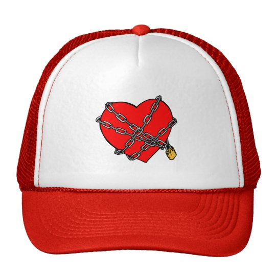 Chains and heart trucker hat