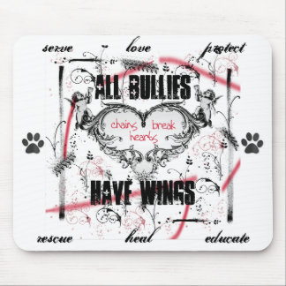 chains break hearts by all bullies have wings(TM) Mouse Pad