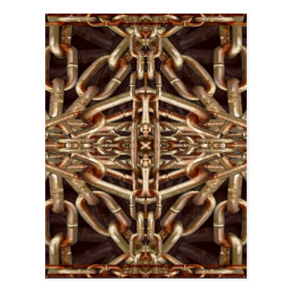 Chains Collage Artwork Postcard