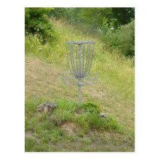 Chains of A Disc Golf Basket Postcard